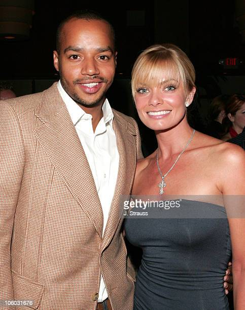 Donald Faison and Jaime Pressly during The AIDS Healthcare Foundation Presents Hot in Hollywood at The Henry Fonda/Music Box Theatre in Hollywood...