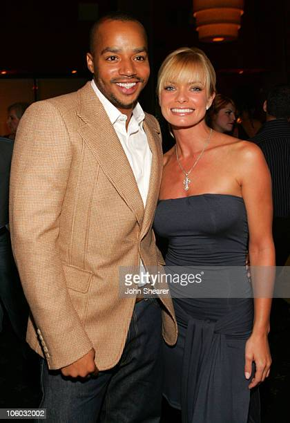 Donald Faison and Jaime Pressly during The AIDS Healthcare Foundation Presents Hot In Hollywood at Henry Fonda Theatre in Hollywood California United...