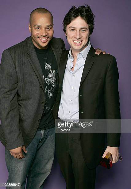 Donald Faison and Zach Braff during Hollywood Life's 4th Annual Breakthrough of the Year Awards Portraits at Henry Fonda Theatre in Hollywood...