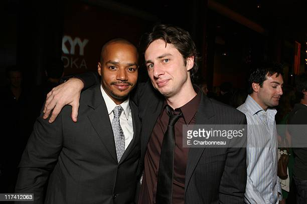 """Donald Faison and Zach Braff during Los Angeles Premiere of DreamWorks """"The Last Kiss"""" at Director's Guild of America in Los Angeles, CA, United..."""