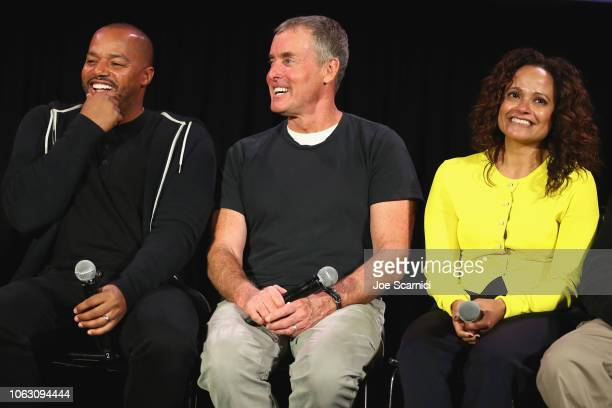 Donald Faison John C McGinley and Judy Reyes attend 'Scrubs Reunion' during Vulture Festival presented by ATT at Hollywood Roosevelt Hotel on...