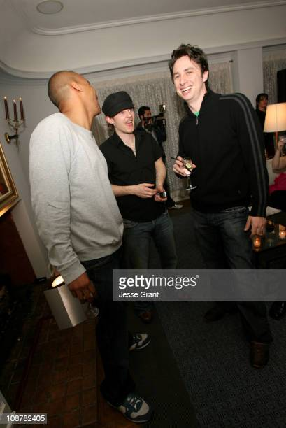 Donald Faison Rasher and Zach Braff during Rasher Exhibit in Hollywood March 16 2006 at Penthouse @ Chateau Marmont in Hollywood CA