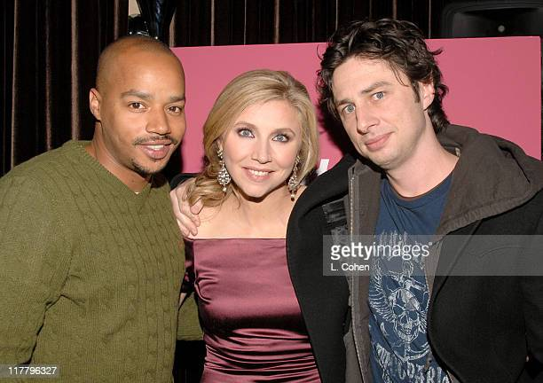 """Donald Faison, Sarah Chalke and Zach Braff during Lifetime Presents """"Why I Wore Lipstick to My Mastectomy"""" Los Angeles Screening at Social in..."""