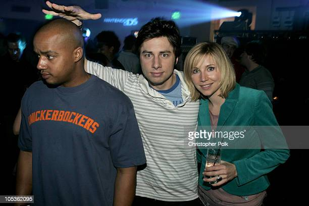 Donald Faison Zach Braff and Sarah Chalke during Exclusive Nintendo DS PreLaunch Party Inside at The Day After in Hollywood CA United States