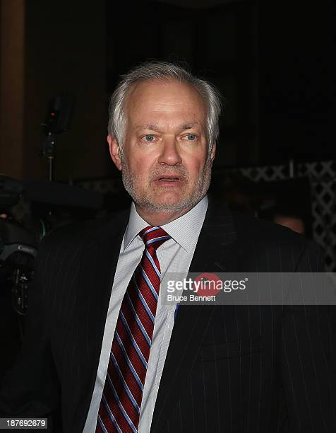Donald Fehr of the NHLPA walks the red carpet prior to the 2013 Hockey Hall of Fame induction ceremony on November 11 2013 in Toronto Canada