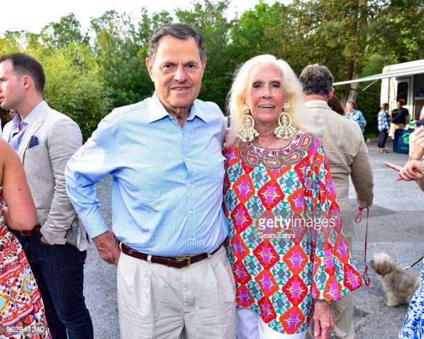 Donald Frank and Cynthia Frank attend ARF Thrift Shop Designer Show House Sale at ARF Thrift Treasure Shop on May 26 2018 in Sagaponack New York