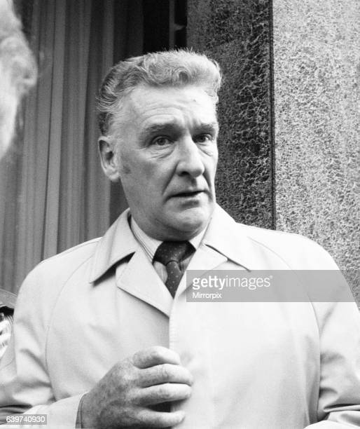 """Donald """"Ginger"""" McCain, the trainer of three times Grand National winner Red Rum, pictured after being summoned to the Jockey Club to for a hearing..."""