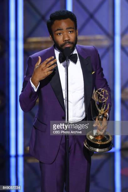 Donald Glover accepts the Emmy Award for Outstanding Lead Actor in a Comedy Series at the 69TH PRIMETIME EMMY AWARDS LIVE from the Microsoft Theater...