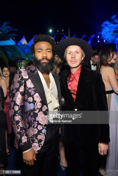 Donald Glover and Beck both wearing Gucci attend the 2019 LACMA Art Film Gala Presented By Gucci at LACMA on November 02 2019 in Los Angeles...