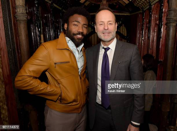 Donald Glover and John Landgraf Chief Executive Officer of FX attend the after party for the premiere of FX's 'Atlanta Robbin' Season' at The Theatre...