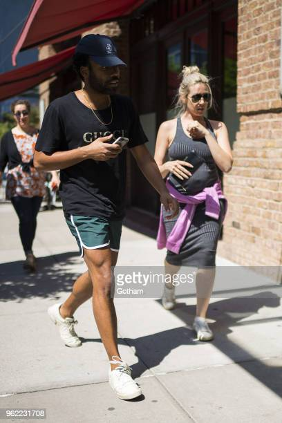Donald Glover and Michelle are seen in Tribeca on May 24 2018 in New York City