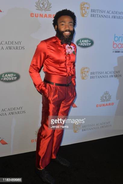 Donald Glover attends 2019 British Academy Britannia Awards presented by American Airlines and Jaguar Land Rover at The Beverly Hilton Hotel on...
