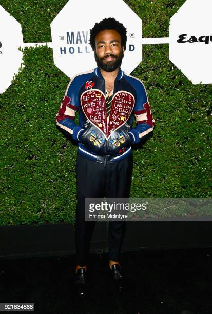 Donald Glover attends Esquire's 'Mavericks of Hollywood' Celebration presented by Hugo Boss on February 20 2018 in Los Angeles California