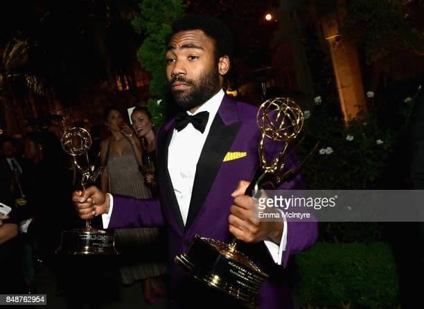 Donald Glover attends FOX Broadcasting Company Twentieth Century Fox Television FX And National Geographic 69th Primetime Emmy Awards After Party at...