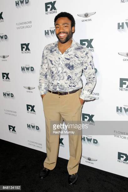 Donald Glover attends FX Networks celebration of their Emmy nominees in partnership with Vanity Fair at Craft on September 16 2017 in Century City...