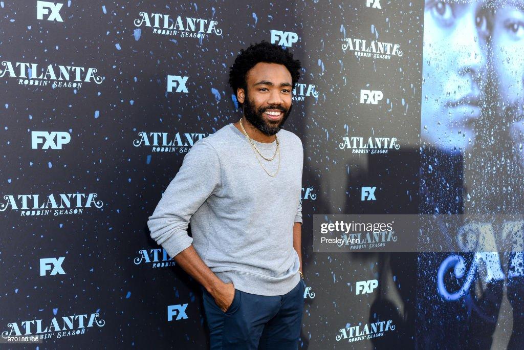 Donald Glover attends FX's 'Atlanta Robbin' Season' FYC Event at Saban Media Center on June 8, 2018 in North Hollywood, California.