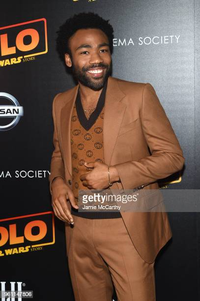 "Donald Glover attends ""Solo: A Star Wars Story"" New York Premiere on May 21, 2018 in New York City."