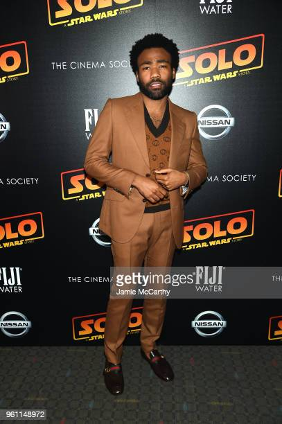 Donald Glover attends Solo A Star Wars Story New York Premiere on May 21 2018 in New York City