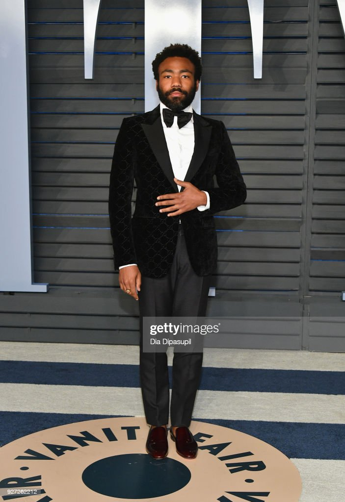 Donald Glover attends the 2018 Vanity Fair Oscar Party hosted by Radhika Jones at Wallis Annenberg Center for the Performing Arts on March 4, 2018 in Beverly Hills, California.