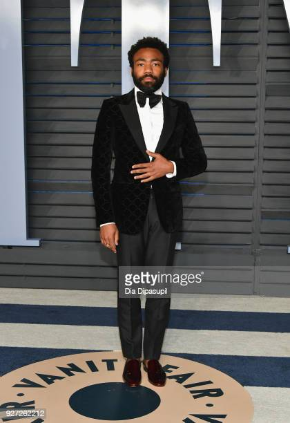 Donald Glover attends the 2018 Vanity Fair Oscar Party hosted by Radhika Jones at Wallis Annenberg Center for the Performing Arts on March 4, 2018 in...