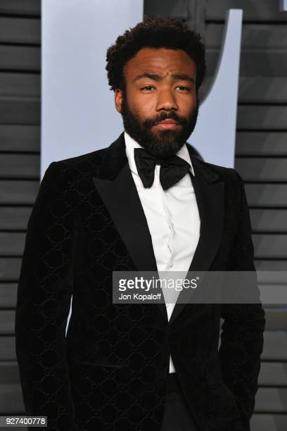 Donald Glover attends the 2018 Vanity Fair Oscar Party hosted by Radhika Jones at Wallis Annenberg Center for the Performing Arts on March 4 2018 in...