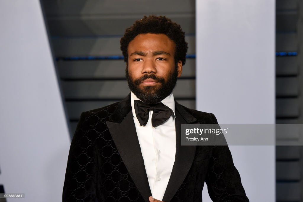 Donald Glover attends the 2018 Vanity Fair Oscar Party Hosted By Radhika Jones - Arrivals at Wallis Annenberg Center for the Performing Arts on March 4, 2018 in Beverly Hills, California.