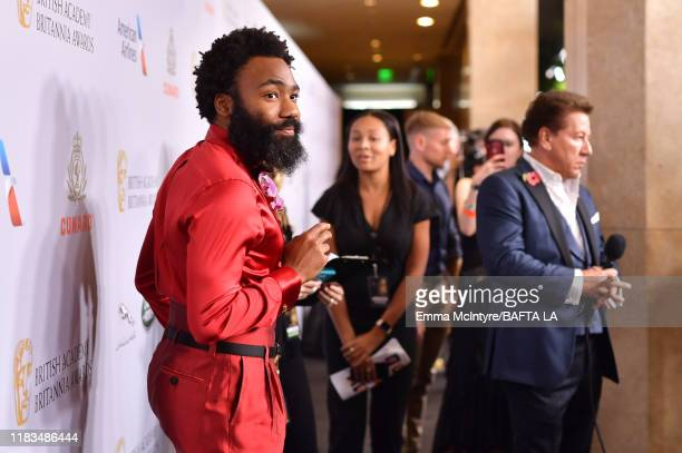 Donald Glover attends the 2019 British Academy Britannia Awards presented by American Airlines and Jaguar Land Rover at The Beverly Hilton Hotel on...