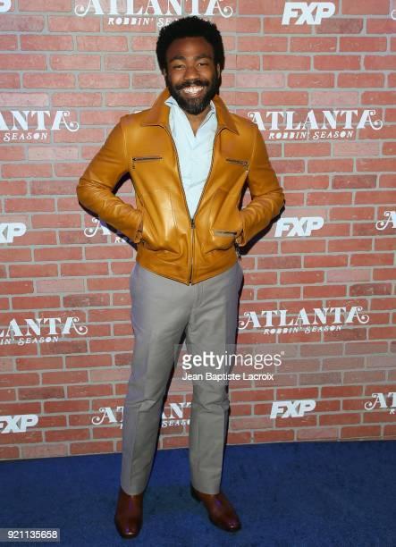 Donald Glover attends the FX's 'Atlanta Robbin' Season' Premiere on February 19 2018 in Los Angeles California