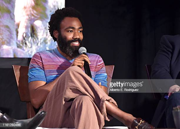Donald Glover attends the Global Press Conference for Disney's THE LION KING on July 10, 2019 in Beverly Hills, California.