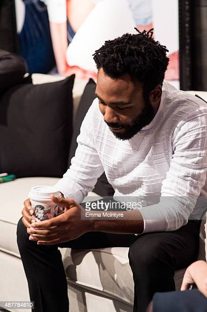 Donald Glover attends the Guess Portrait Studio at the Toronto International Film Festival on September 11 2015 in Toronto Canada