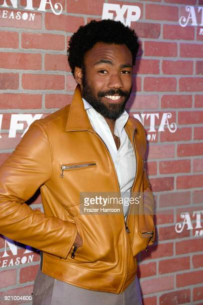 Donald Glover attends the premiere for FX's 'Atlanta Robbin' Season' at The Theatre at Ace Hotel on February 19 2018 in Los Angeles California