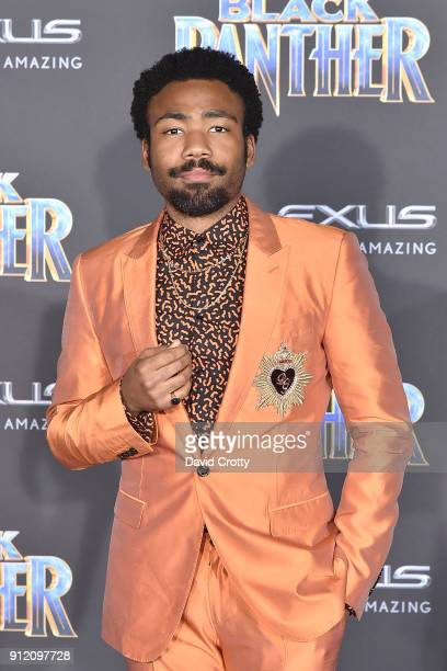 Donald Glover attends the Premiere Of Disney And Marvel's 'Black Panther' Arrivals on January 29 2018 in Hollywood California