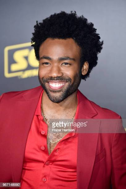 Donald Glover attends the premiere of Disney Pictures and Lucasfilm's Solo A Star Wars Story at the El Capitan Theatre on May 10 2018 in Los Angeles...