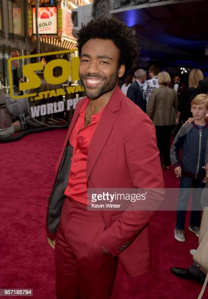 Donald Glover attends the premiere of Disney Pictures and Lucasfilm's Solo A Star Wars Story at the El Capitan Theatre on May 10 2018 in Hollywood...
