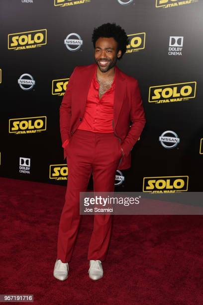Donald Glover attends the Premiere of Disney Pictures and Lucasfilm's Solo A Star Wars Story on May 10 2018 in Los Angeles California