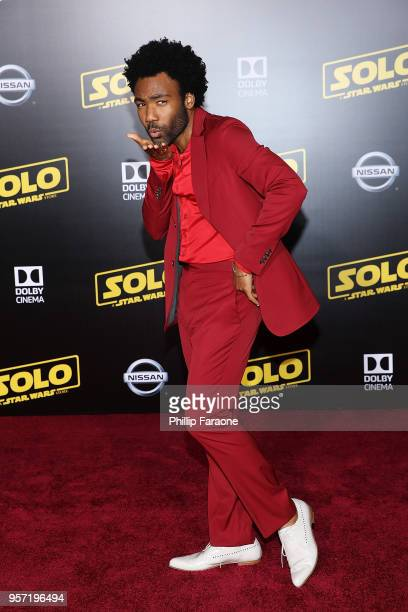 Donald Glover attends the premiere of Disney Pictures and Lucasfilm's 'Solo A Star Wars Story' on May 10 2018 in Hollywood California