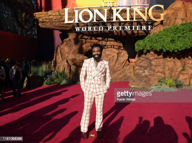 Donald Glover attends the premiere of Disney's The Lion King at Dolby Theatre on July 09 2019 in Hollywood California