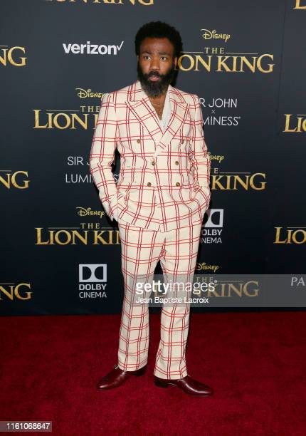 """Donald Glover attends the premiere of Disney's """"The Lion King"""" at Dolby Theatre on July 09, 2019 in Hollywood, California."""
