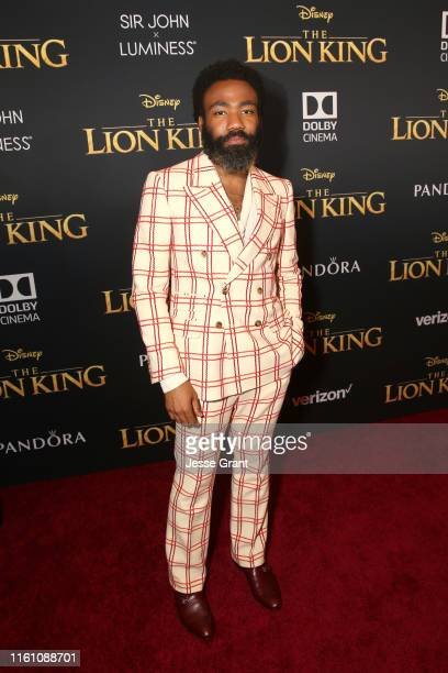 "Donald Glover attends the World Premiere of Disney's ""THE LION KING"" at the Dolby Theatre on July 09, 2019 in Hollywood, California."