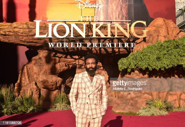 Donald Glover attends the World Premiere of Disney's THE LION KING at the Dolby Theatre on July 09 2019 in Hollywood California