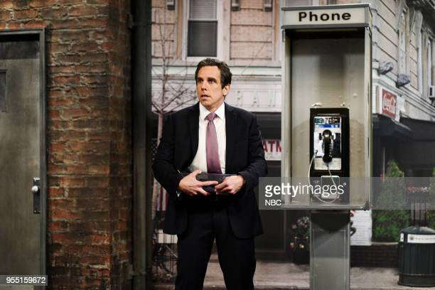 LIVE Donald Glover Episode 1744 Pictured Ben Stiller as Attorney Michael Cohen during 'Michael Cohen Wiretap Cold Open' in Studio 8H on Saturday May...
