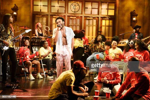 LIVE Donald Glover Episode 1744 Pictured Childish Gambino performs in Studio 8H on Saturday May 5 2018