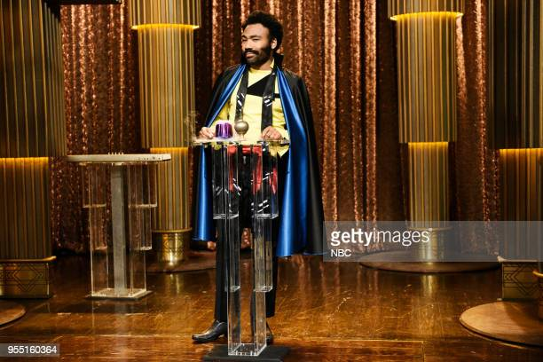 LIVE Donald Glover Episode 1744 Pictured Donald Glover as Mr Lando Calrissian during 'Lando's Summit' in Studio 8H on Saturday May 5 2018