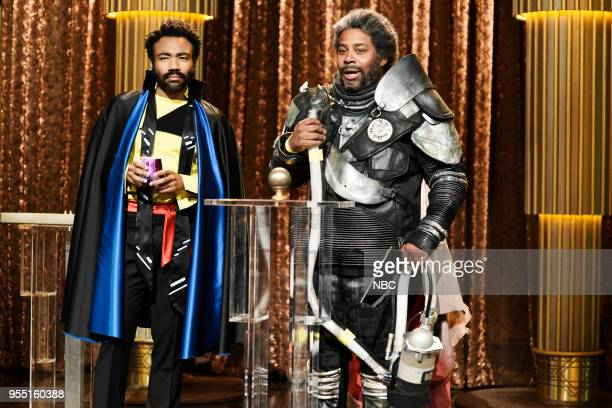 LIVE Donald Glover Episode 1744 Pictured Donald Glover as Mr Lando Calrissian Kenan Thompson as Mr Saw Gerrera during 'Lando's Summit' in Studio 8H...