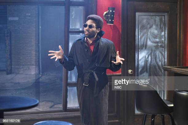 LIVE Donald Glover Episode 1744 Pictured Donald Glover as Razz P Berry Jr during '80s Music Video' in Studio 8H on Saturday May 5 2018