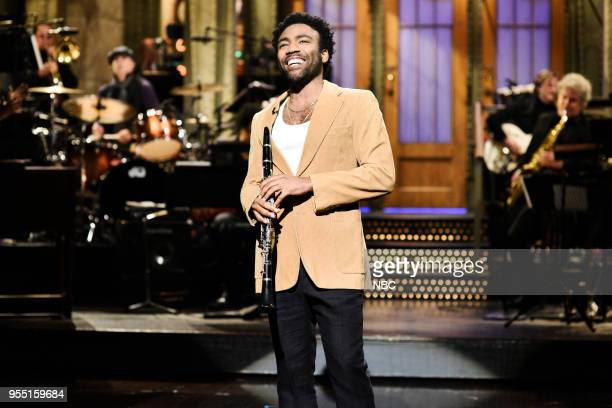 LIVE Donald Glover Episode 1744 Pictured Host Donald Glover during the opening monologue in Studio 8H on Saturday May 5 2018