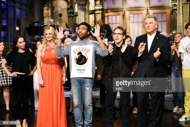 LIVE 'Donald Glover' Episode 1744 Pictured Zoë Kravitz Stephanie A Gregory Clifford Stormy Daniels Donald Glover Ben Stiller Alec Baldwin during...