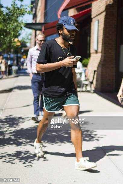 Donald Glover is seen in Tribeca on May 24 2018 in New York City