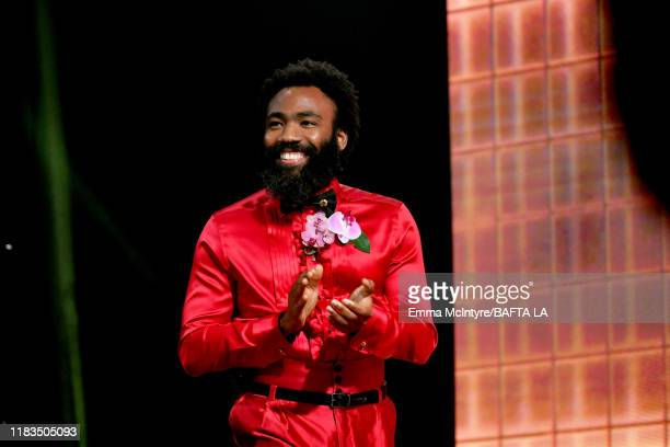 Donald Glover is seen onstage during the 2019 British Academy Britannia Awards presented by American Airlines and Jaguar Land Rover at The Beverly...