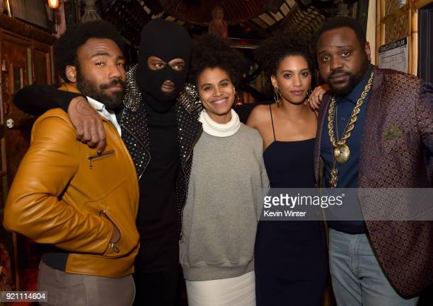 Donald Glover Lakeith Stanfield Zazie Beetz Stefani Robinson and Brian Tyree Henry attend the after party for the premiere of FX's Atlanta Robbin'...